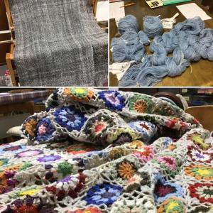 手紡ぎ糸の作品