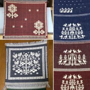 ヤノフ織りを楽しんでいます