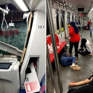 マレーシア史上最悪の地下鉄衝突事故、47人重症、166人が負傷