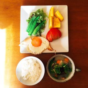めだまやき朝ごはん(6/22の朝食)