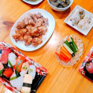 実家でお寿司パーティー
