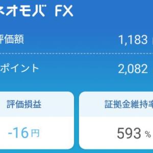 【FX】ネオモバでドル円を200ポイント分ロングしてみた。