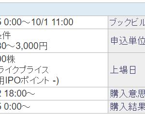 【IPO】日通システムとSBI証券の手数料100万円まで無料