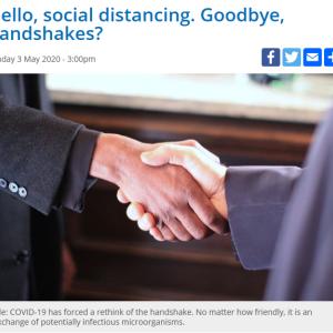 握手よ さようなら、ソーシャルディスタンス こんにちは、~南アフリカ~