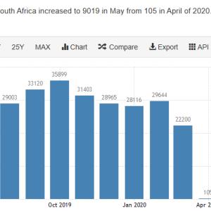 南アフリカ ロックダウン 新車登録台数が激減