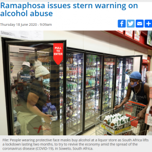 ロックダウン 大幅な緩和措置を発表 ~南アフリカ~