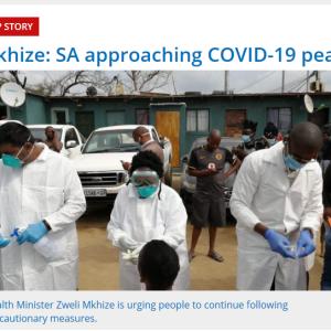 コロナ感染ピークに近づく南アフリカ