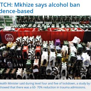 アルコール類販売禁止の影響 ~南アフリカ~