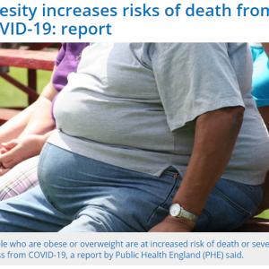 肥満による高まる脂肪リスク ~COVID19~