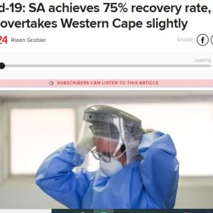 コロナ感染 統計上は下降曲線へ ~南アフリカ~