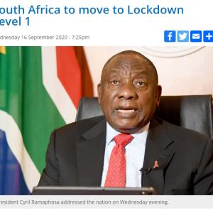 ロックダウン Level.1へ緩和 ~南アフリカ~