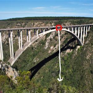 高低差世界最大級のバンジージャンプが体験できるらしい ~南アフリカ~