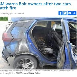 電気自動車の火災 ~暴動ではありません~