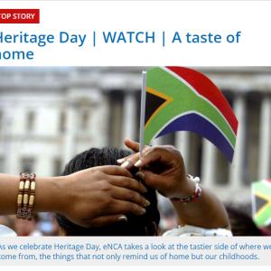 9月24日(金)は祝日でした(伝統文化継承の日) ~南アフリカ~