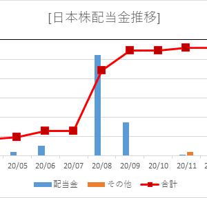 [日本株]ビックカメラの配当金 2020/11