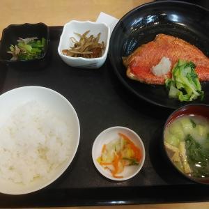 中央食堂「金目煮定食」(新潟市中央卸売市場)