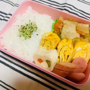 【2020/08/03】ココロ復活★晴れの日の野菜炒め弁当(¥136)