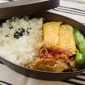 【2020/09/29】ロース焼肉&塩ゆでアスパラ弁当(¥172)