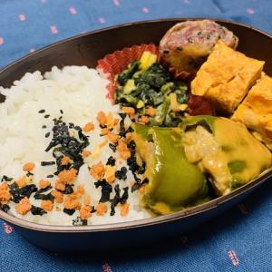 【2020/10/08】ピーマンの肉詰め弁当(¥167)