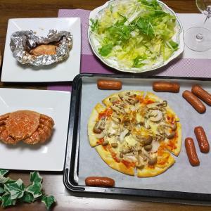 料理をしない主人が作った、男飯!行者にんにくダレで、イカのホイル焼き。
