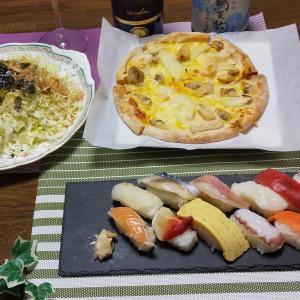 市販のピザを冷凍野菜で更に美味しく!