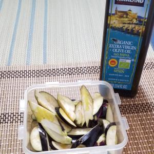 冷凍茄子と玉葱を使って・・レンジでラザニアに挑戦!!