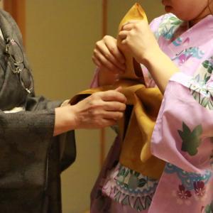 昔の授業写真[着付け/和服]