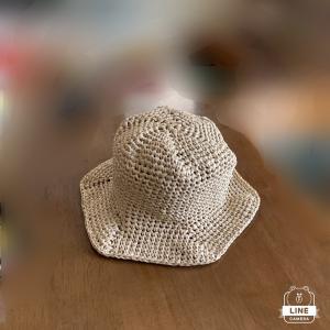 ペーパーヤーンでロビンの夏帽子を編む♡