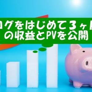 【副業】ブログをはじめて3ヶ月後のPV数と収益を大公開【どのくらい稼げる?】