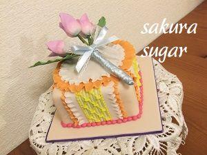 お花のケーキも素敵です!!