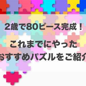 おすすめパズル!2歳で80ピース完成!これまでやったことをご紹介