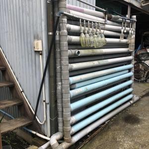 省スペース塩ビ管雨水タンクの自作 雨水タンク自作1