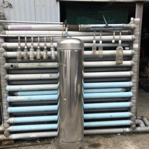 雨水タンクの新作? 電気温水器用タンクを雨水タンクに何とか出来ないか…