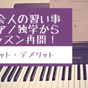 【社会人の習い事】ピアノ独学からレッスン再開!レッスンを再開して良かった