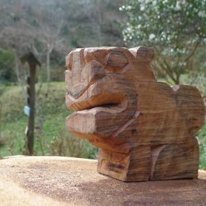 Shisa :Okinawan lion statues, used as talisman against evil