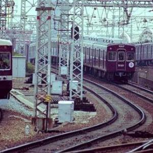 """""""36年前阪急電鉄の電車です。"""""""