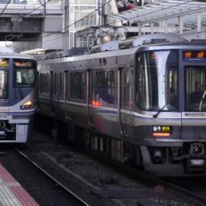 7/5 SUN. 関西地区、東海道本線を行く、225系、223系電車。