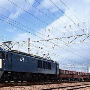 11/25 WED. JR貨物 EF64が屋根付きホキ貨物を牽引していました。