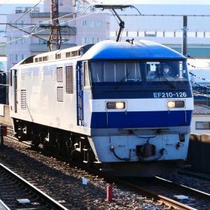12/2 WED. JR貨物 EF210 電気機関車 単機回送です。