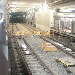 1/17 SUN. 東急東横線 東京メトロ副都心線 建設中の渋谷駅です。