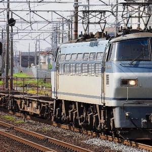 東海道稲沢貨物線を行くEF66 100番台です。