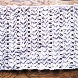 アラン模様に見えなくもないかぎ針編み