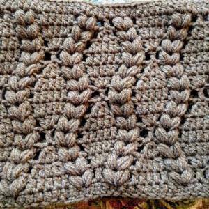 カウルの編み方を観ながらスヌードを編む!