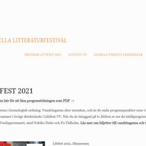 スウェーデン北部地方の文学フェスLITTFEST