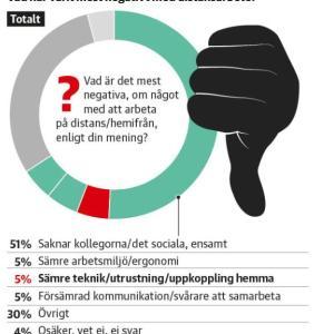 スウェーデン人の半数以上が選んだ「在宅勤務の問題点」