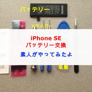 iPhone SE バッテリー交換をド素人がやってみた!やり方を詳しく解説