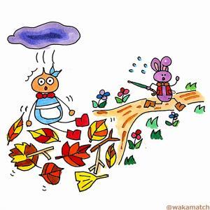 アリスがウサギの巣穴を落ち終わるまでの英語絵巻