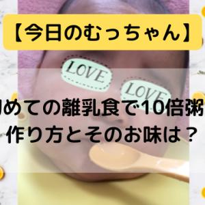 【今日のむっちゃん】初めての離乳食で10倍粥!作り方とそのお味は?