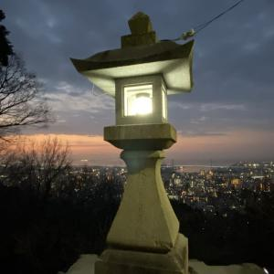 保久良神社からの日の出