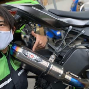 【ZX-6R】BEETメタルブラックサイレンサー【長野県kawasakiバイク屋】
